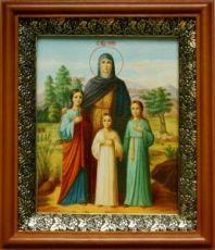 Вера, Надежда, Любовь и София (19х22), светлый киот