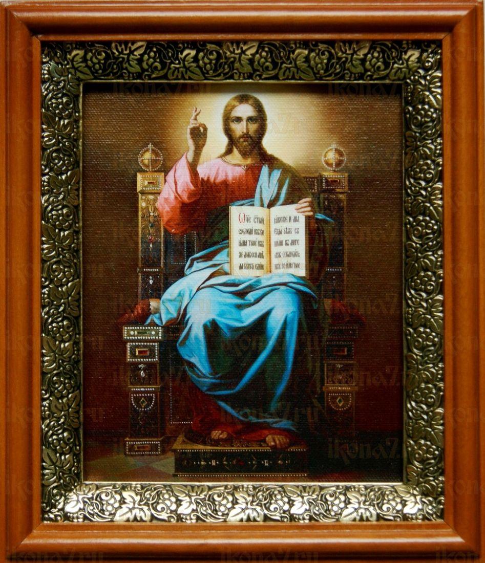 Спас на престоле (19х22), светлый киот