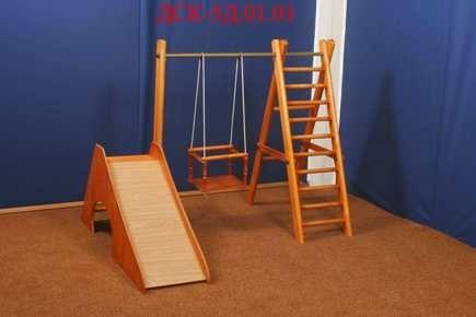 Детский спортивный комлекс ДСК 5Д.01.01, деревянный
