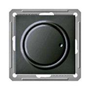 Диммер поворотно-нажимной (630Вт, чёрный бархат)