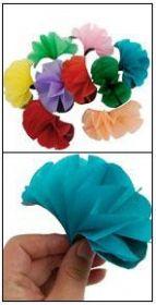 Цветы из ниоткуда - 10 шт (тонкая бумага)
