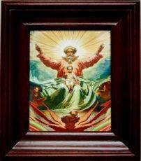 Новозаветная Троица (21х24), простой киот