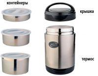 Термос Биосталь NR с контейнерами для еды - из чего состоит комплект