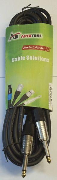 Apextone AP-2308/6 Кабель 6 м, джек-джек, инструментальный