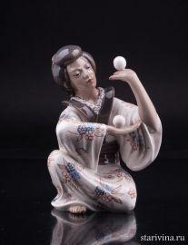 Японка жонглирующая шарами, Dahl Jensen, Дания, артикул 01989