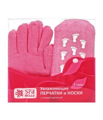Комплект: увлажняющие перчатки и носки с гелевой пропиткой, цвет розовый