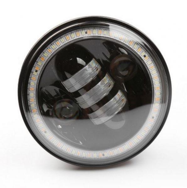 Светодиодная фара головного света 5,75 дюймов для мотоцикла Harley (halo ring)