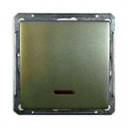 Выключатель 1-о клавишный с индикатором (250В, 16А, шампань)