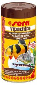 SERA Випачипс Основной корм в форме чипсов для всех придонных рыб (1000 мл)