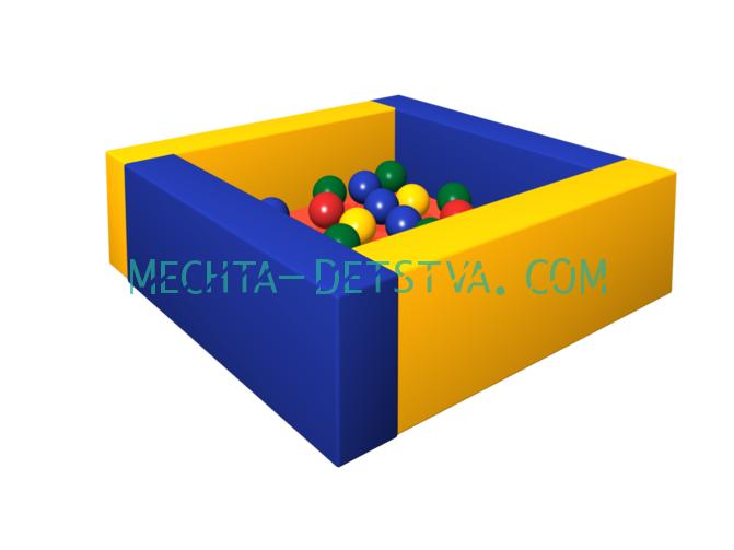 Сухой бассейн с шариками «Лужайка» ДМФ-МК-06.13.00