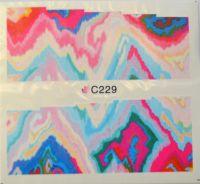 Водная наклейка для дизайна ногтей С 229