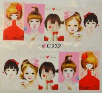 Водная наклейка для дизайна ногтей С 232