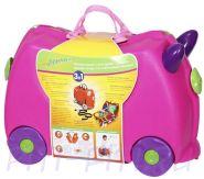 Чемоданчик на колёсиках 3в1 Zilmer розовый