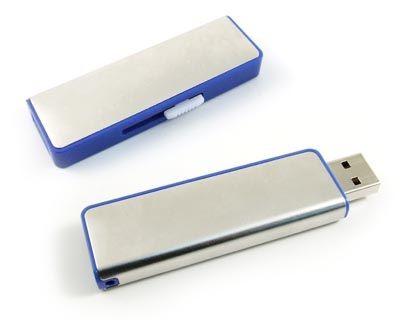 32GB USB-флэш накопитель Apexto U108B металлический слайдер, синяя вставка