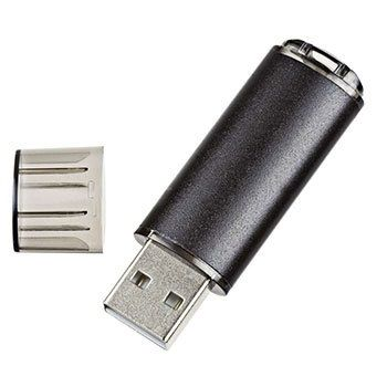 32GB USB-флэш накопитель Apexto U307B, черный с прозрачным колпачком