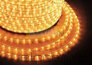 Дюралайт светодиодный, постоянное свечение(2W), желтый, 220В, бухта 100м