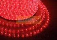Дюралайт светодиодный, постоянное свечение(2W), красный, 220В, диаметр 13 мм, бухта 100м, NEON-NIGHT