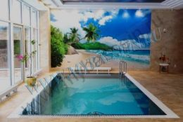 Бетонный бассейн мозаика