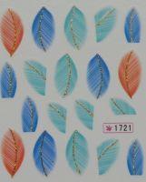 Наклейки на водной основе для дизайна ногтей №1721