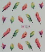 Наклейки на водной основе для дизайна ногтей №1737