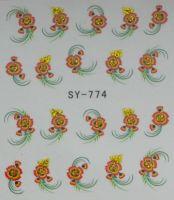 Наклейки на водной основе для дизайна ногтей SY774