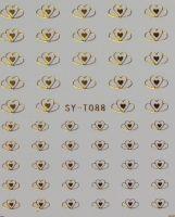 Наклейки на водной основе для дизайна ногтей SYТ 088