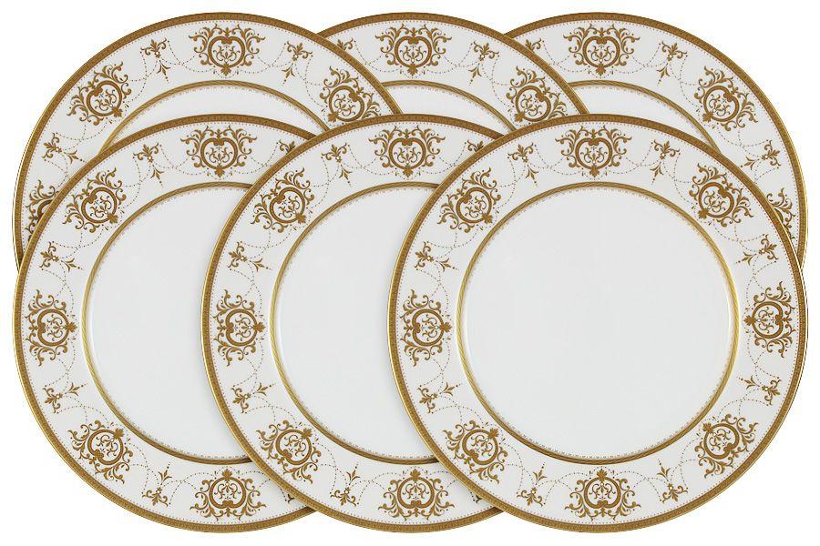 "Набор из 6 обеденных тарелок ""Тиара Голд"" 27 см"