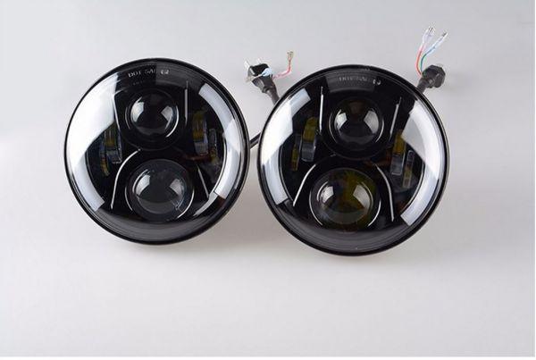 Светодиодные фары головного света 7 дюймов 120W DRL Hummer 2 шт.