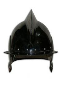 Шлем Бургиньот с гребнем вороненый.