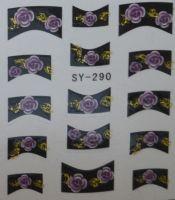 Наклейки на водной основе для дизайна ногтей SY290