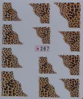 Наклейки на водной основе для дизайна ногтей №267