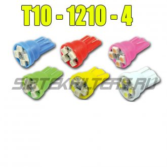 Лампа светодиодная Т10 (W5W) 4SMD