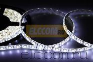 LED лента герметичная в силиконе, ширина 10 мм, IP65, SMD 5050, 60 диодов/метр, 12V, цвет светодиодов белый