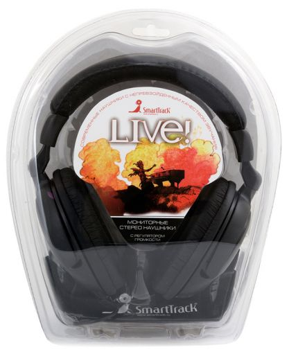 Мониторные наушники SmartBuy® LIVE! (чер) (4 мтера)