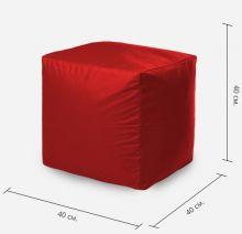 Бескаркасная мебель - Пуфик Красный