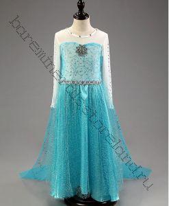 Платье  Эльзы  Холодное сердце П03 рост 130 см