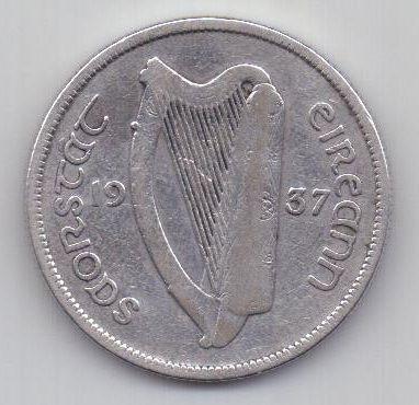 1 флорин 1937 г. редкий год. Ирландия. Великобритания