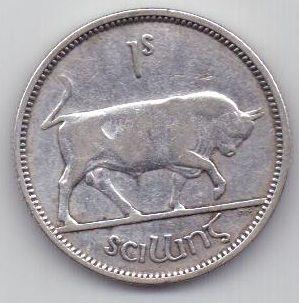 1 шиллинг 1937 г. редкий год. Ирландия. Великобритания