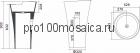 NSF-5290 Раковина из POLYSTONE (акриловый камень) размер,мм: 529*900 (NS BATH)