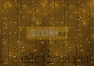 """Гирлянда """"Светодиодный Дождь"""" 2х1,5м, постоянное свечение, белый провод, 220В, диоды ЖЁЛТЫЕ, NEON-NIGHT"""