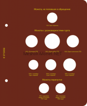 Лист для альбома «Монеты РСФСР, СССР регулярного выпуска. 1921–1957». Серии «по номиналам», «по годам»