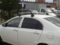 Багажник на крышу Lifan Solano, Атлант, прямоугольные дуги