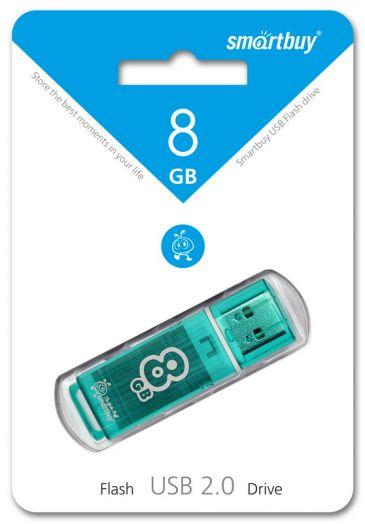 USB накопитель Smartbuy 8GB Glossy series Green