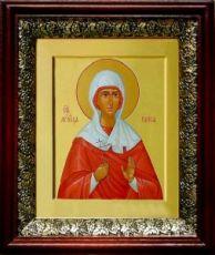 Раиса Александрийская (19х22), темный киот