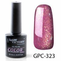 Цветной гель-лак с мерцанием Lady Victory, 7,3 ml GPC-323