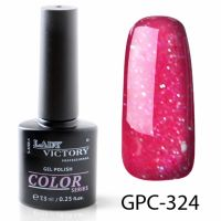 Цветной гель-лак с мерцанием Lady Victory, 7,3 ml GPC-324