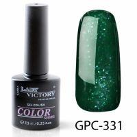 Цветной гель-лак с мерцанием Lady Victory, 7,3 ml GPC-331