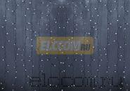 """Гирлянда """"Светодиодный Дождь"""" 2х3м, постоянное свечение, прозрачный провод, 220В, диоды БЕЛЫЕ"""
