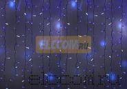 """Гирлянда """"Светодиодный Дождь"""" 2х3м, эффект мерцания, белый провод, 220В, диоды СИНИЕ, NEON-NIGHT"""