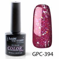 Цветной гель-лак с мерцанием Lady Victory, 7,3 ml GPC-394